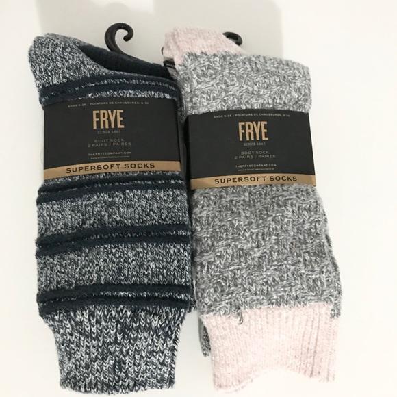NWT (2) Frye Women's Boot Socks